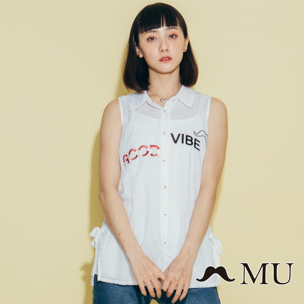 【MU】good vibe刺繡氣質無袖上衣 8323165 4