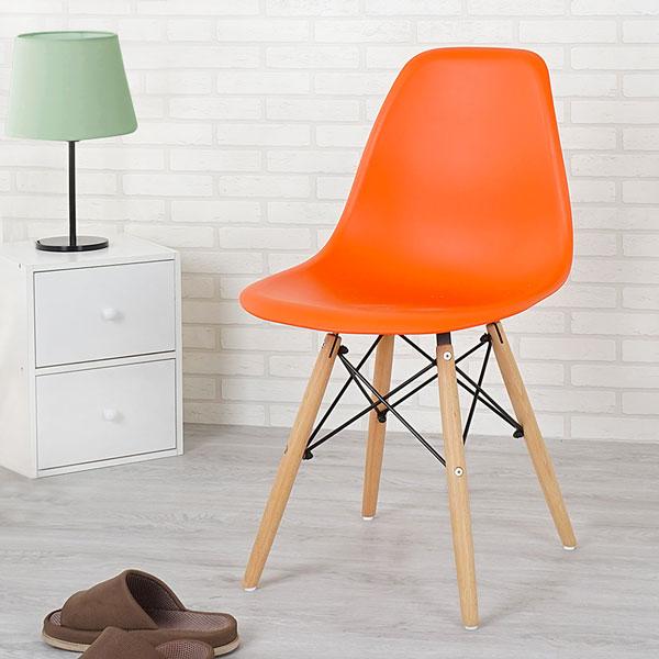 優世代居家生活館:餐椅椅子休閒椅洽談椅《Yostyle》菲爾造型椅(樂活橘)