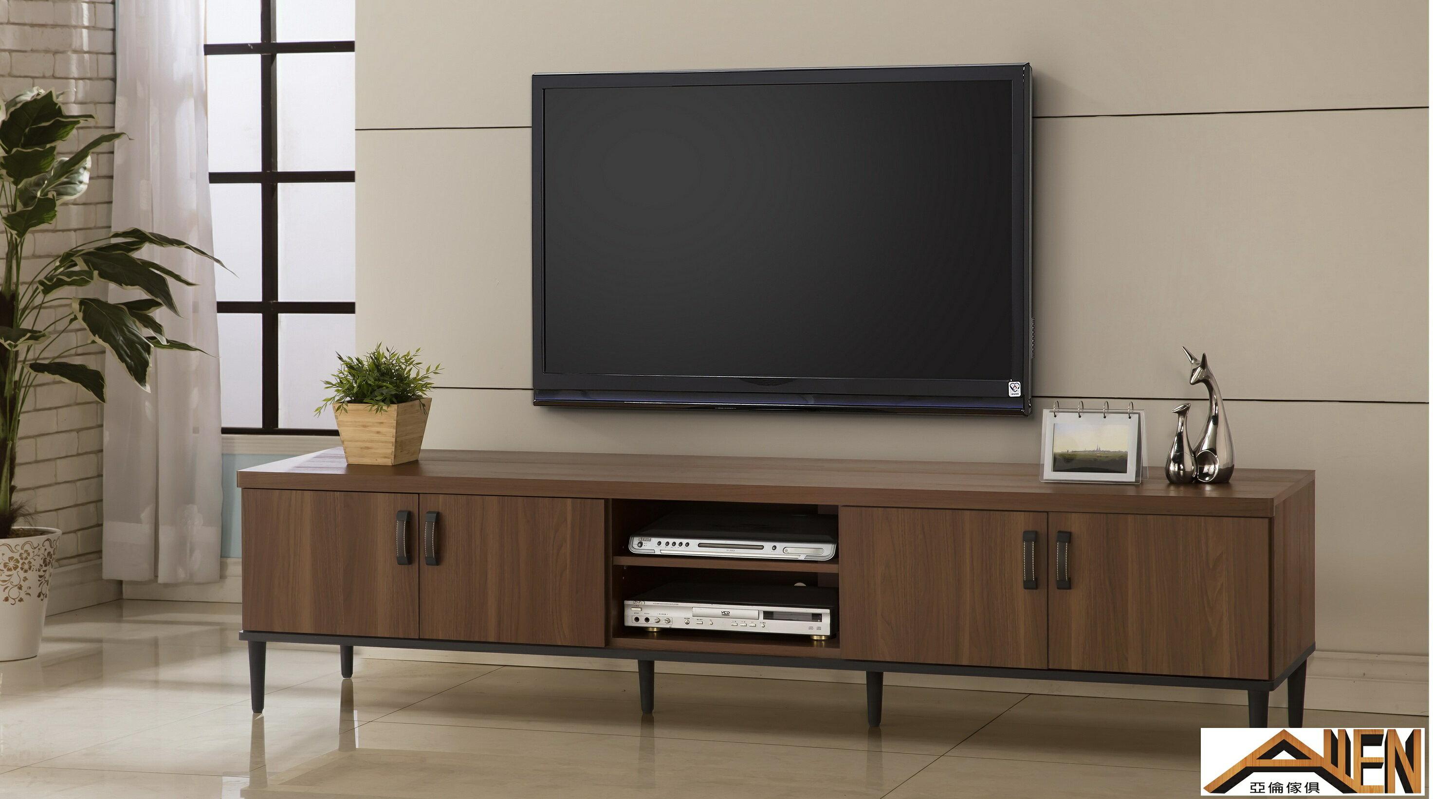 亞倫傢俱*亞當斯立體木紋7尺電視櫃