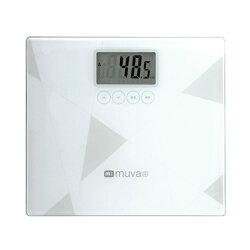 MUVA SA5403 健康幾何學BMI電子體重計(典雅白)