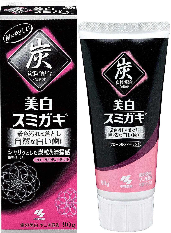 小林製藥碳之力黑炭美白牙膏90g潔白抗菌除臭036433