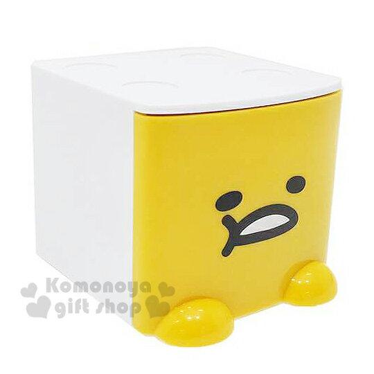 〔小禮堂〕蛋黃哥 桌上單抽積木收納盒《黃白.大臉》可多個推疊