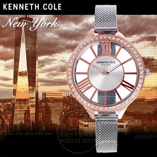 KennethCole國際品牌時尚回歸華麗晶鑽鏤空腕錶KC50184005公司貨禮物精品