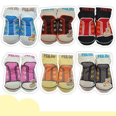 PEILOU 貝柔 寶寶鞋型止滑襪-休閒風(P369)