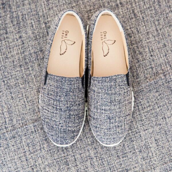 ONE SHOE:獨家販賣-日本布料超輕量休閒鞋毛呢紋