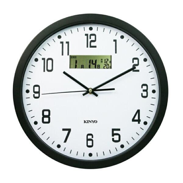 CL-15114吋LCD顯示掛鐘時鐘鬧鐘掛鐘壁鐘LCD電子鐘【迪特軍】