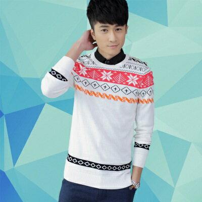 針織毛衣長袖針織衫-中國復古圖騰造型男上衣色3色73ik62【獨家進口】【米蘭精品】