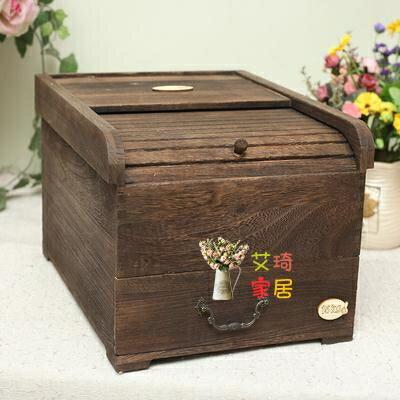實木米桶 木質密封米箱 15kg米桶防潮保鮮純實木可儲藏五谷米箱 10kgT