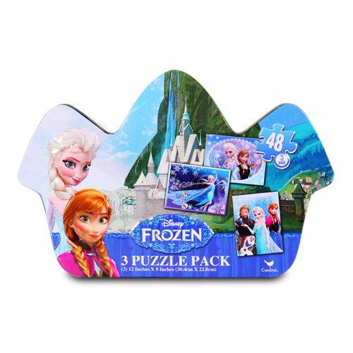 【Disney 品牌授權系列】冰雪奇緣造型鐵盒拼圖 CD28869