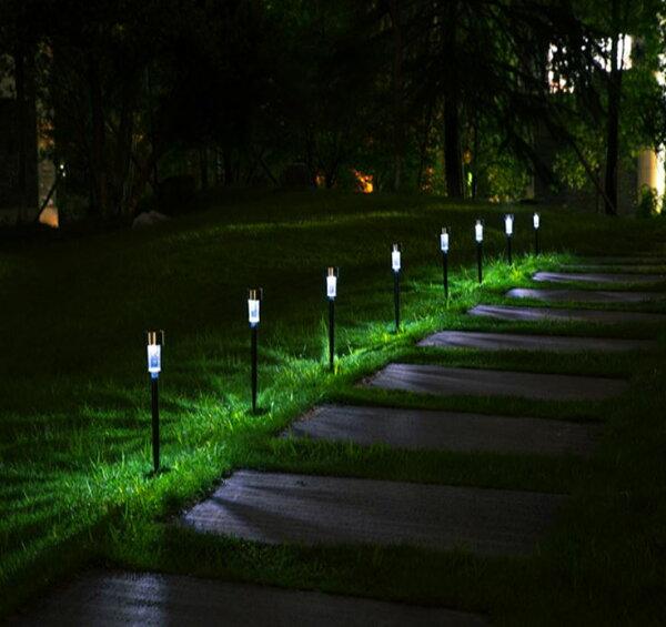 《沛大旗艦店》$50不鏽鋼太陽能草坪燈庭院燈戶外燈照明燈花園燈草地燈氣氛燈太陽能防雨【S09】