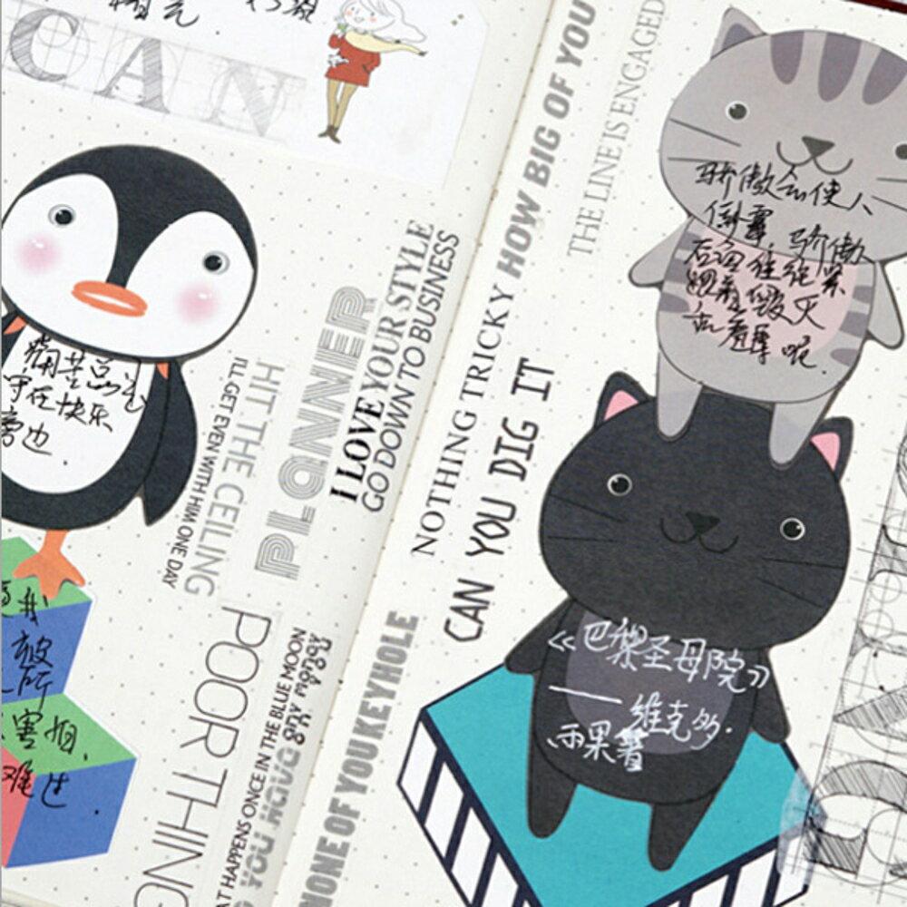 黑色行李箱一紙日記系列便條紙 留言卡 備忘錄【BlueCat】【JC3101】 1