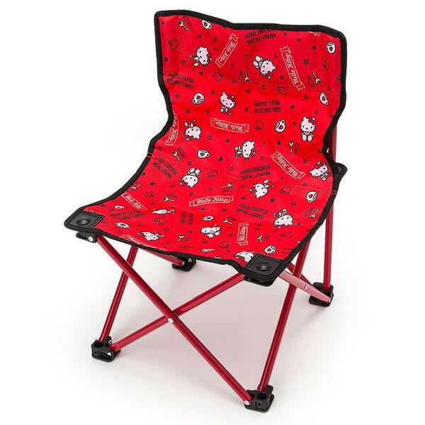 【真愛日本】16062300010摺疊收納椅-KT紅  三麗鷗 Hello Kitty 凱蒂貓 折疊椅 椅子 隨身椅 生活用品 居家