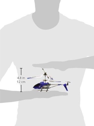 Syma S107G Mini 3.5 Channel Infrared RC Helicopter with Gyro Blue 5