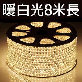 【鄉野情戶外專業】 露營專用LED5050 加寬防水燈條(暖白光)/露營燈 串燈 裝飾燈/附收納袋 【8米 附插頭】