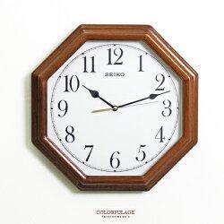 SEIKO精工時鐘 復古中國風八卦造型設計掛鍾 滑動式靜音秒針 柒彩年代【NG1735】原廠公司貨