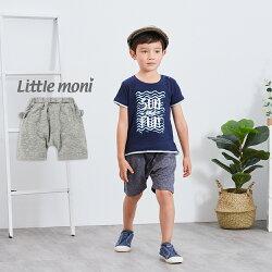 Little moni 動物印圖哈倫褲-麻花灰