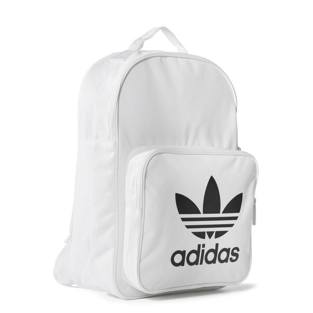 KUMO SHORE-Adidas Originals 白 黑 愛迪達 三葉草 背包 白LOGO 後背包 BP7307