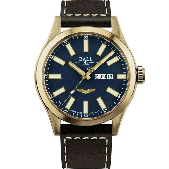大高雄鐘錶城 BALL 波爾錶 NM2186C-L4J-BE Engineer III 系列 Marvelight Bronze Star機械腕錶/ 藍面 43mm