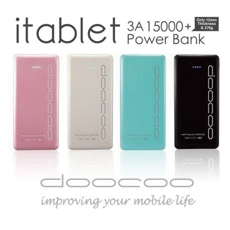 doocoo itablet 3A 15000+ 極致輕薄行動電源(itablet PB-018-1)