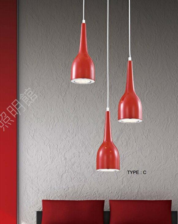 現代風造型 LED吊燈 法拉利紅系列 ( 三款可選 )