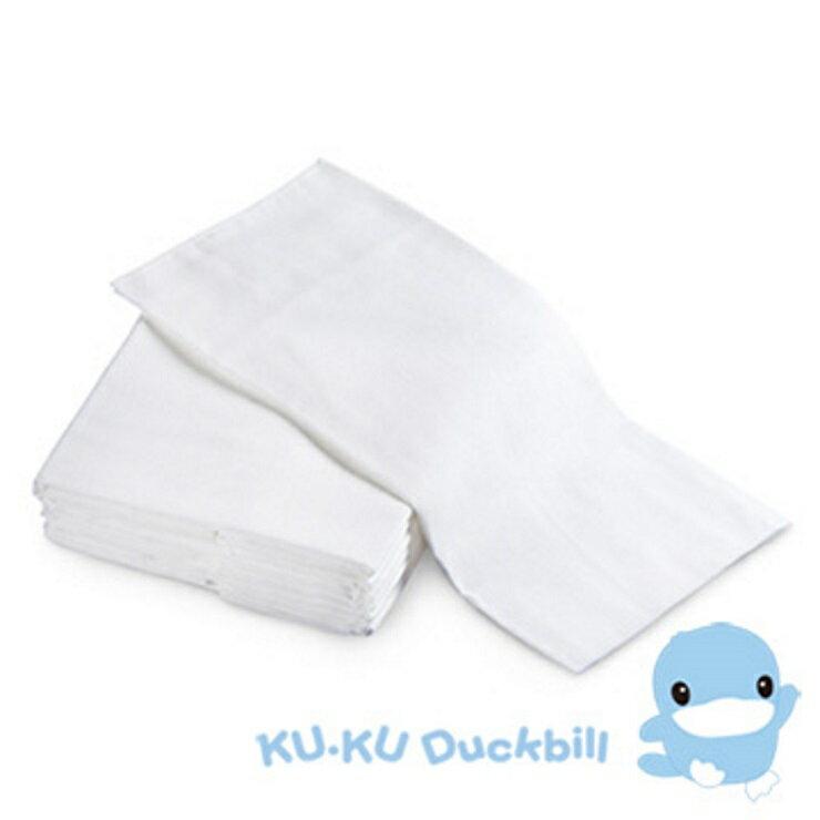 KUKU酷咕鴨環保紗布尿布-初生型-12入【寶貝樂園】