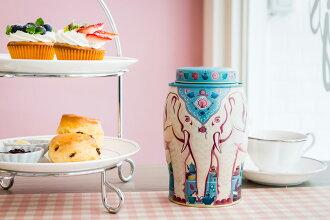 英國【威廉森茶 Williamson Tea】午茶時光大象罐(內含傳統下午茶/40個圓片茶包)