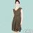 【Milida,全店七折免運】-夏季洋裝-無袖款-百搭V領百摺款 4