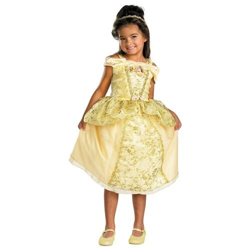 Girls Disney Deluxe Belle Costume 0