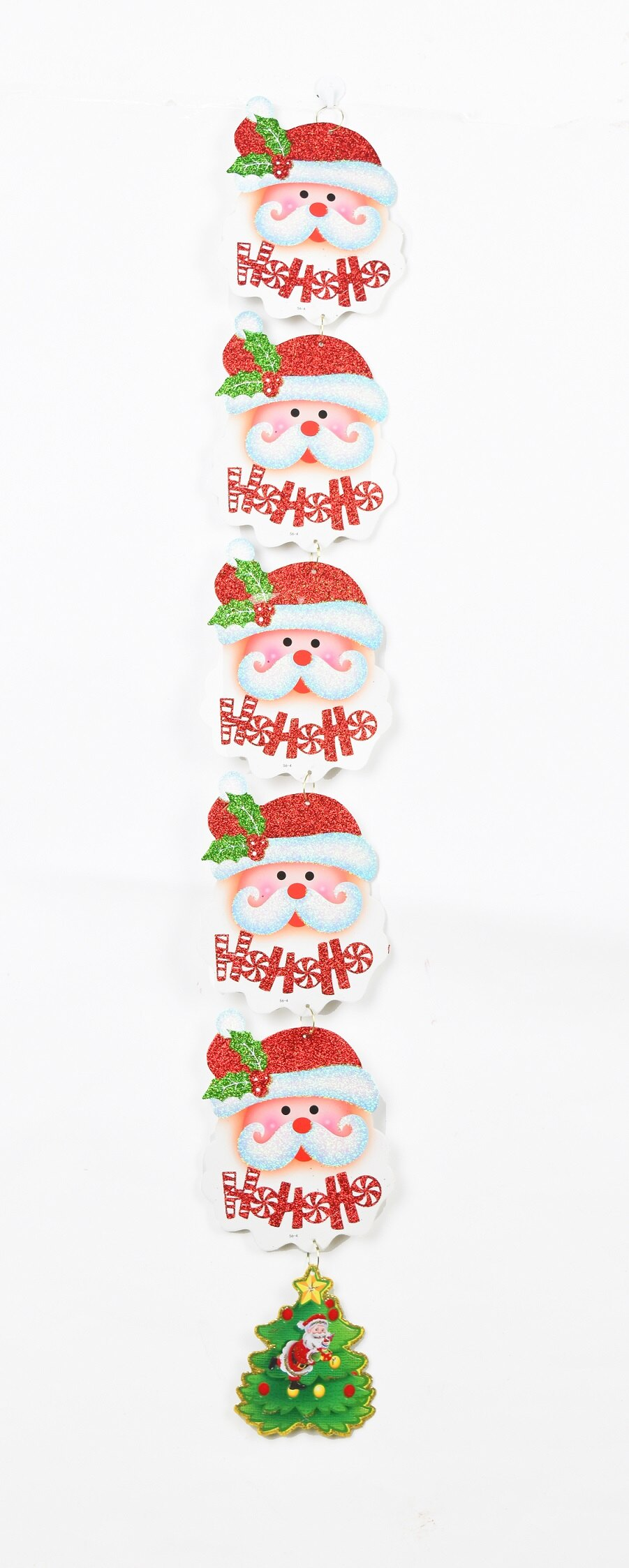 X射線【X388712】聖誕老公公頭掛小樹豎串,聖誕節/聖誕樹/聖誕佈置/聖誕掛飾/裝飾/掛飾/會場佈置/DIY/材料包