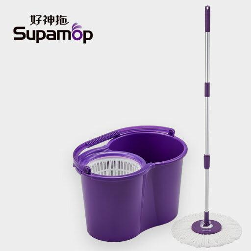 永大醫療~贈品出清~手轉 好神拖 SupaMop 美型 旋轉拖把組~399元~