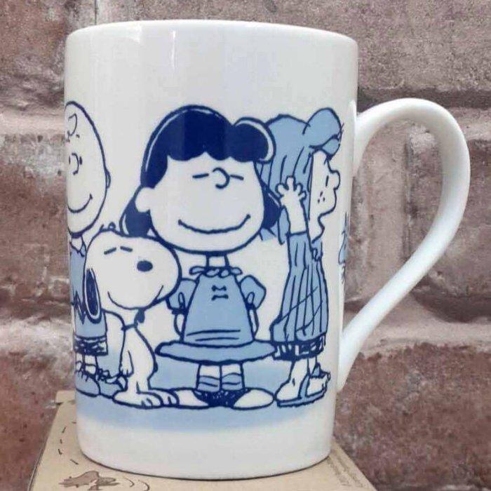【真愛日本】13052200015 附蓋馬克杯-SN全人物A 史努比 SNOOPY 咖啡杯 下午茶杯 陶瓷杯