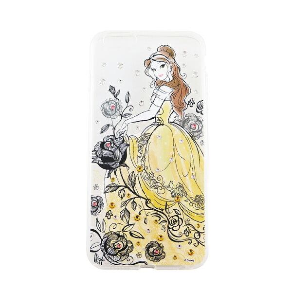 Disney迪士尼iPhone66S(4.7)施華洛世奇水鑽透明雙料保護殼-漫畫貝兒