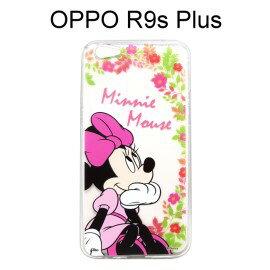 迪士尼透明軟殼[花語]米妮OPPOR9sPlus(6吋)【Disney正版授權】