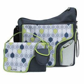 【淘氣寶寶】JJ Cole Collection Bag 媽媽包+尿布墊+奶嘴袋+吊環(4合一) (顏色:Navy Drop)