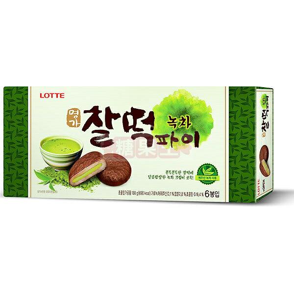 韓國 Lotte 樂天抹茶巧克力年糕 (6入裝)