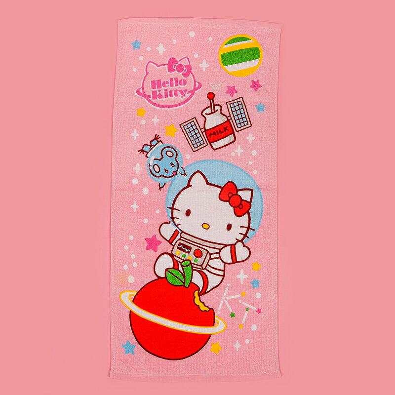 浴巾   館~100%純棉~HelloKitty凱蒂貓太空風~76X152cm, ,三麗鷗