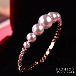 珍珠造型開口手環 I56614 【櫻桃飾品】【I56614】
