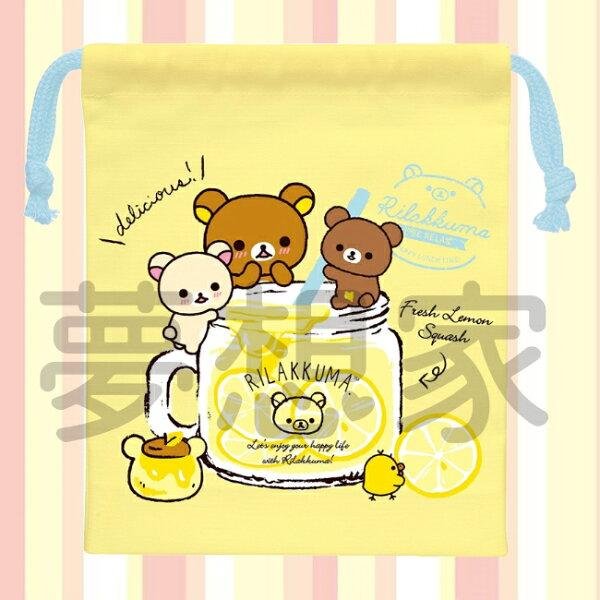日本進口San-X拉拉熊Rilakkuma束口袋小物袋《日本製》★當化妝包雜物包都適合★夢想家Zakka'fe