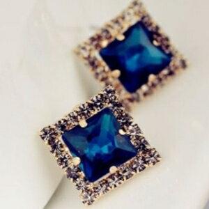 美麗大街【GE0335】奢華 精緻 正方形 時尚 百搭 耳釘 耳環 耳飾 飾品批發