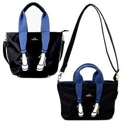 Mis Zapatos 黑色 小側背手提兩用包 日本帶回正版 尼龍水洗