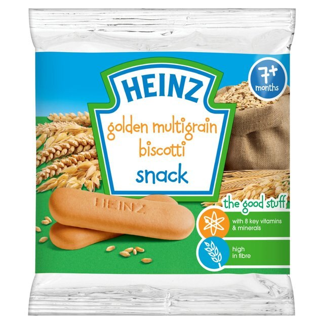 美國【亨氏Heinz】黃金多穀物手指餅60g(7個月以上適用)