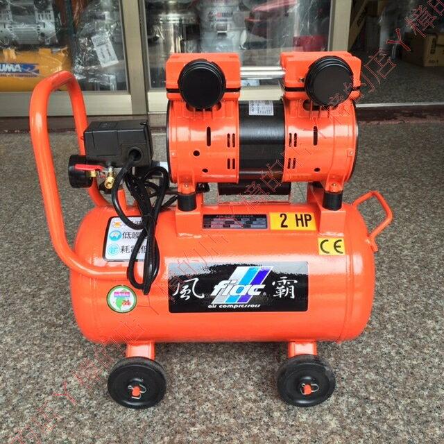風霸牌2HP*25L超靜音無油式雙缸直接式空壓機/適用於大樓,住宅區,實驗室(含稅價)