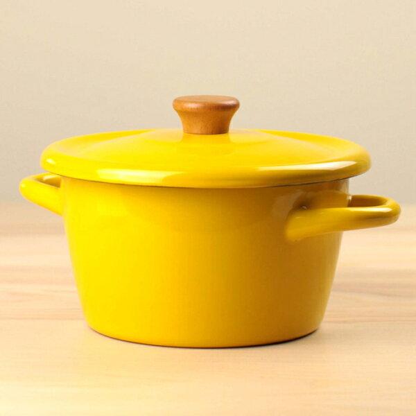 【日本CBJAPAN】(新款)北歐系列琺瑯雙耳湯鍋琺瑯鍋-芥末黃