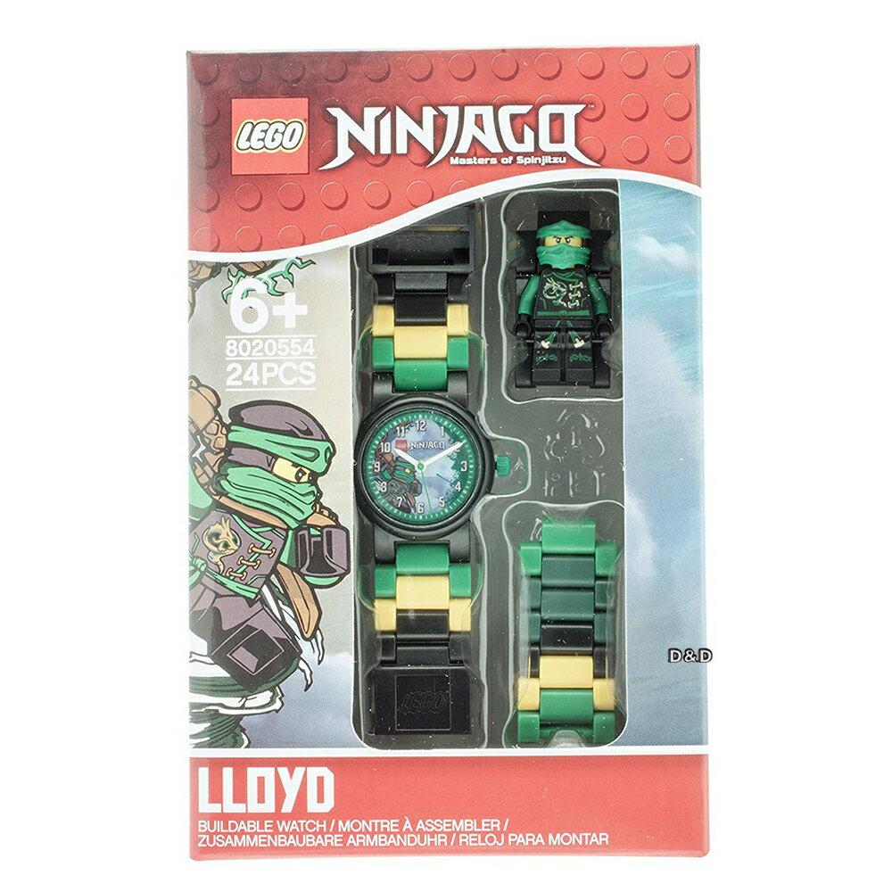 免運費【 樂高積木 LEGO 】兒童手錶 - 旋風忍者系列 勞埃德 - 綠忍者