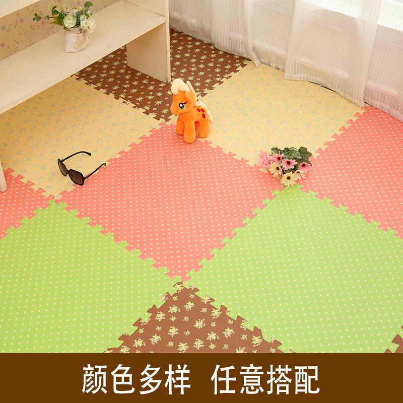 大號泡沫地墊加厚EVA爬行墊木紋田園風拼接地毯地墊