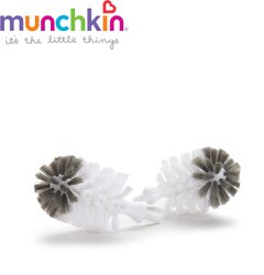 美國【munchkin】不鏽鋼奶瓶刷替換刷頭2入