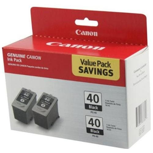 Canon PG-40 Twin Pack Black Ink Cartridge - Inkjet - Black 1