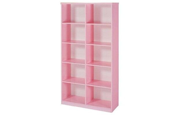 【石川家居】935-08粉紅色書櫃(CT-904)#訂製預購款式#環保塑鋼P無毒防霉易清潔