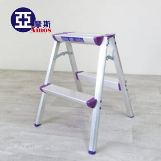 梯子 折疊梯 收納梯 樓梯椅【GAW006】超穩固多功能二階鋁製A字椅梯 摺疊梯凳 鋁梯 輕巧好收納 家用梯 Amos