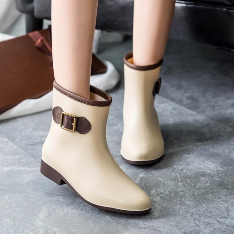 全館免運_雨鞋女款雨鞋女士中筒時尚女式雨靴防滑水鞋短筒膠鞋成人水靴套鞋八折搶殺